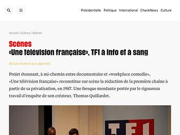 «Une télévision française», TF1 à info et à sang
