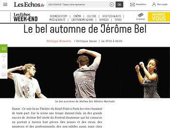 Le bel automne de Jérôme Bel