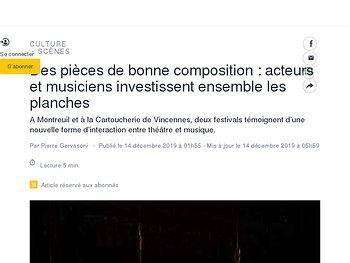 Des pièces de bonne composition: acteurs et musiciens investissent ensemble les planches