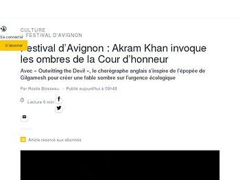 Akram Khan invoque les ombres de la Cour d'honneur