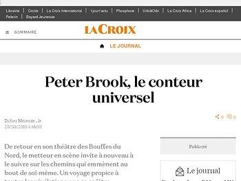 Peter Brook, le conteur universel