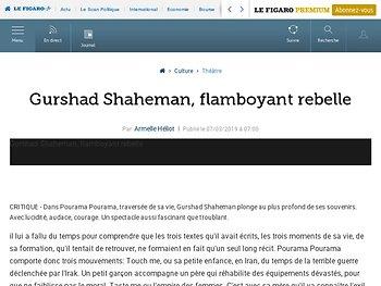 Gurshad Shaheman, flamboyant rebelle