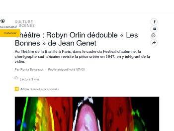 Robyn Orlin dédouble «Les Bonnes» de Jean Genet
