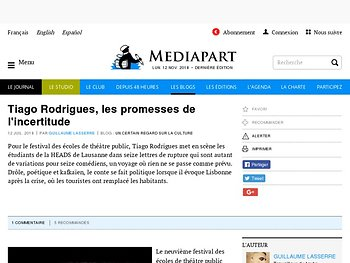 Tiago Rodrigues, les promesses de l'incertitude