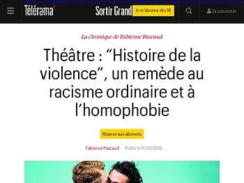 """""""Histoire de la violence"""", un remède au racisme ordinaire et à l'homophobie"""