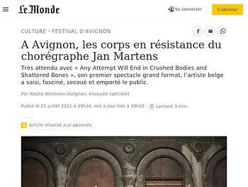 A Avignon, les corps en résistance du chorégraphe Jan Martens