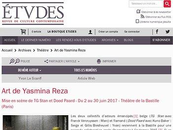 Art de Yasmina Reza: une question