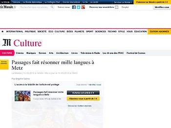 Passages fait résonner mille langues à Metz