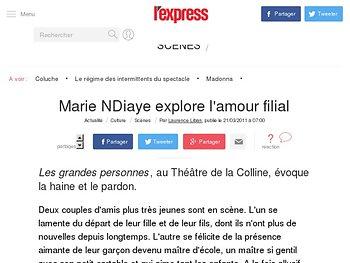 Marie NDiaye explore l'amour filial