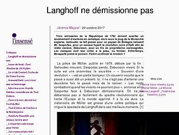 Langhoff ne démissionne pas