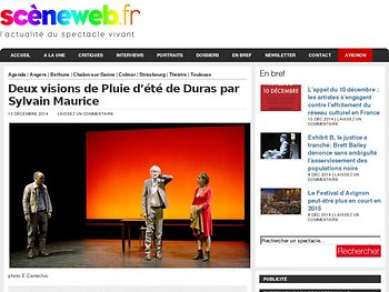 Deux visions de Pluie d'été de Duras par Sylvain Maurice