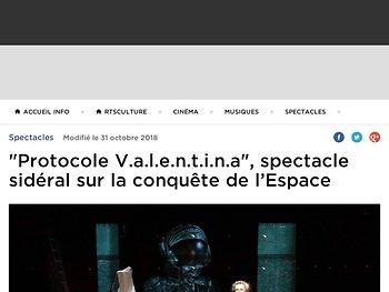 """""""Protocole V.a.l.e.n.t.i.n.a"""", spectacle sidéral sur la conquête de l'Espace"""