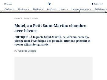 Motel, au Petit Saint-Martin: chambre avec bévues