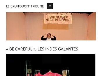 « Be Careful », les indes galantes