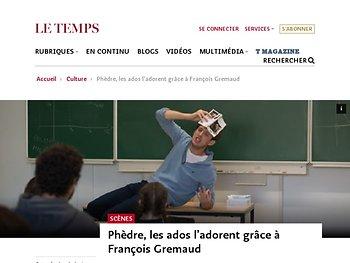 Phèdre, les ados l'adorent grâce à François Gremaud