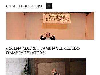 « Scena madre , l'ambiance credo d'Ambra Senatore