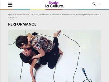"""""""A Leaf"""", Célia Gondol et Nina Santes inventent le concert chorégraphique"""