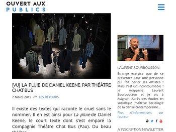 La pluie de Daniel Keene par Théâtre Chat Bus