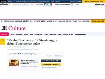 """""""Merlin l'enchanteur"""" à Strasbourg, le début d'une sacrée quête"""