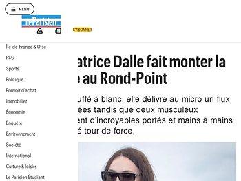 Béatrice Dalle fait monter la température au Rond-Point