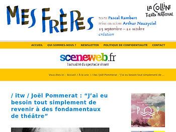 """/ itw / Joël Pommerat : """"J'ai eu besoin tout simplement de revenir à des fondamentaux de théâtre"""""""