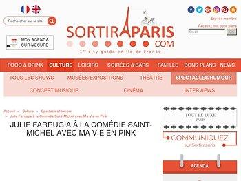 """Julie Farrugia à la Comédie Saint-Michel avec """"Ma Vie en Pink"""""""