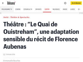 """""""Le Quai de Ouistreham"""", une adaptation sensible du récit de Florence Aubenas"""