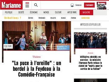 Comedie Francaise Calendrier.Espace Critiques La Puce A L Oreille Georges Feydeau