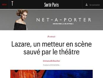 Lazare, un metteur en scène sauvé par le théâtre