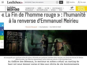 «La Fin de l'homme rouge»: l'humanité àlarenverse d'Emmanuel Meirieu