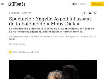 Yngvild Aspeli à l'assaut de la baleine de «Moby Dick»