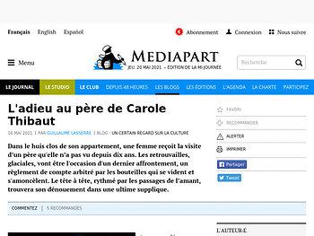 L'adieu au père de Carole Thibaut