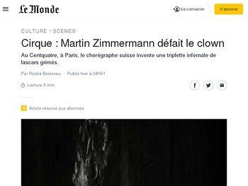 Martin Zimmermann défait le clown