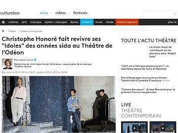 """Christophe Honoré fait revivre ses """"Idoles"""" des années sida au Théâtre de l'Odéon"""