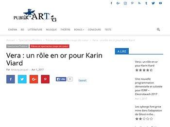 Vera : un rôle en or pour Karin Viard