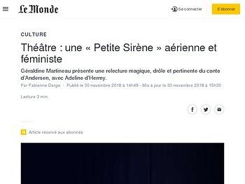 une «Petite Sirène» aérienne et féministe