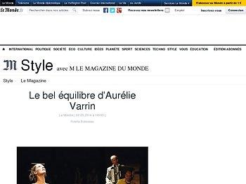 Le bel équilibre d'Aurélie Varrin