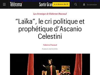 """""""Laïka"""", le cri politique et prophétique d'Ascanio Celestini"""