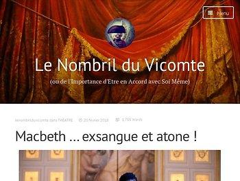 Macbeth … exsangue et atone !