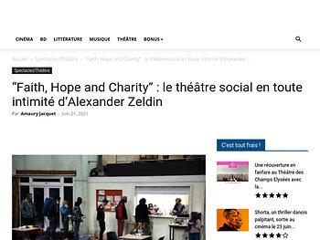 """""""Faith, Hope and Charity"""" : le théâtre social en toute intimité"""
