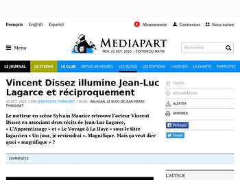 Vincent Dissez illumine Jean-Luc Lagarce et réciproquement