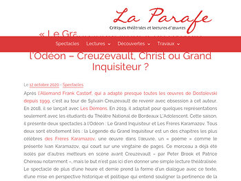 Creuzevault, Christ ou Grand Inquisiteur ?