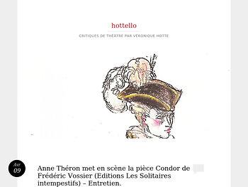 """Anne Théron met en scène la pièce """"Condor"""" de Frédéric Vossier - Entretien."""