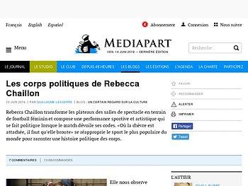 Les corps politiques de Rebecca Chaillon