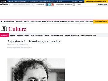 Entretien avec Jean-François Sivadier