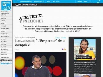 """Luc Jacquet, """"L'Empereur"""" de la banquise - France 24"""