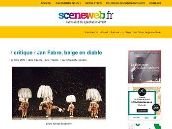 Jan Fabre, belge en diable