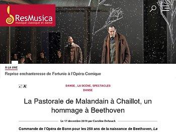 La Pastorale de Malandain à Chaillot, un hommage à Beethoven