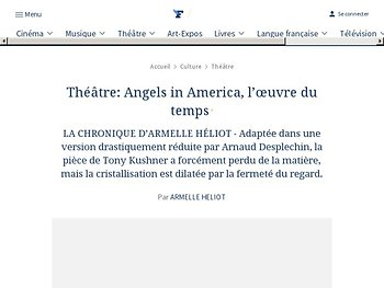 Angels in America, l'œuvre du temps