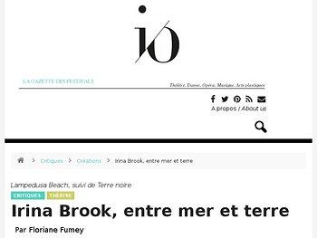 Irina Brook, entre mer et terre